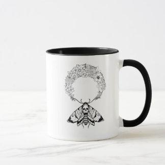 Death Moth Flowered Moon Mug