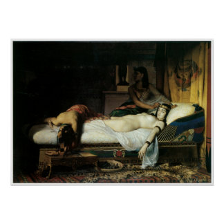Death of Cleopatra, 1874 Jean-Andre Rixens Poster