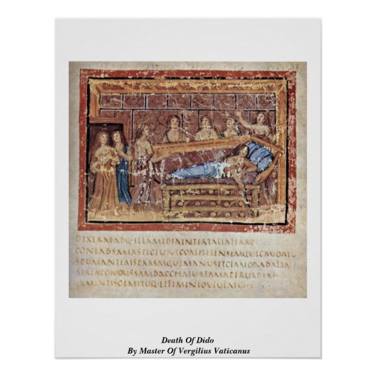 Death Of Dido By Master Of Vergilius Vaticanus Poster