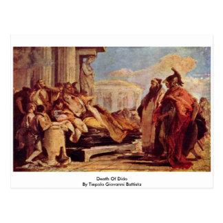 Death Of Dido By Tiepolo Giovanni Battista Postcard