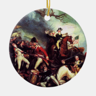 Death Of General Mercer at the Battle of Princeton Ceramic Ornament