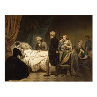Death of George Washington postcard