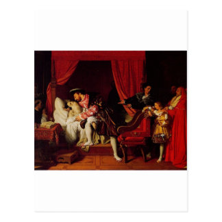 Death of Leonardo Da Vinci by Ingres circa 1818 Postcard