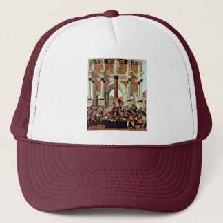 Death Of Lucretia By Botticelli Sandro Trucker Hat