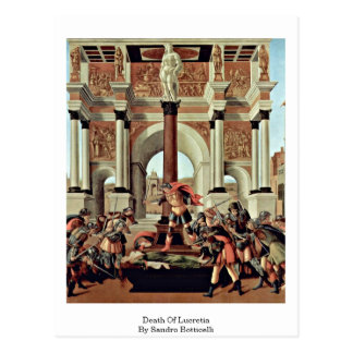 Death Of Lucretia By Sandro Botticelli Postcard