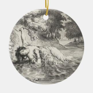 Death of Ophelia Ceramic Ornament