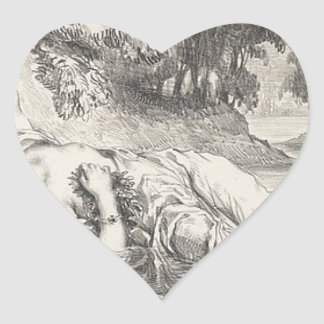 Death of Ophelia Heart Sticker