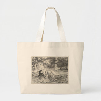 Death of Ophelia Large Tote Bag