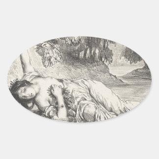 Death of Ophelia Oval Sticker