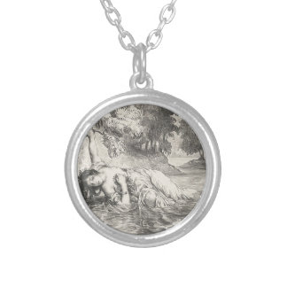 Death of Ophelia Silver Plated Necklace