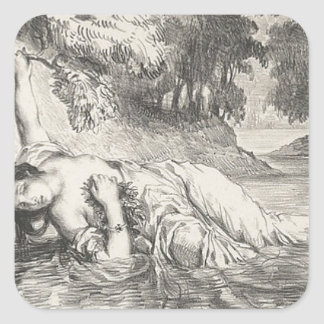 Death of Ophelia Square Sticker