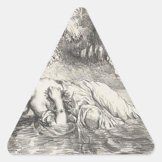 Death of Ophelia Triangle Sticker