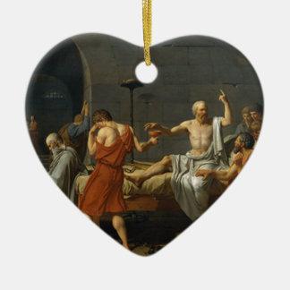 Death of Socrates Ceramic Heart Ornament