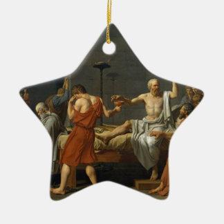 Death of Socrates Ceramic Star Ornament