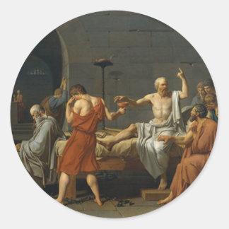 Death of Socrates Classic Round Sticker