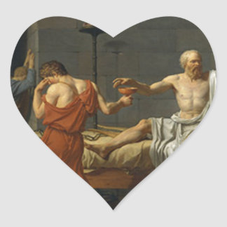 Death of Socrates Heart Sticker