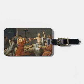 Death of Socrates Luggage Tag