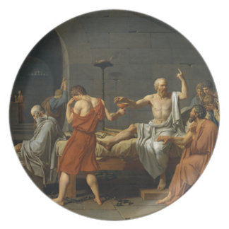 Death of Socrates Party Plate