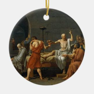 Death of Socrates Round Ceramic Ornament