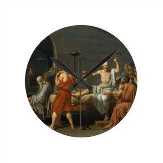 Death of Socrates Round Clock