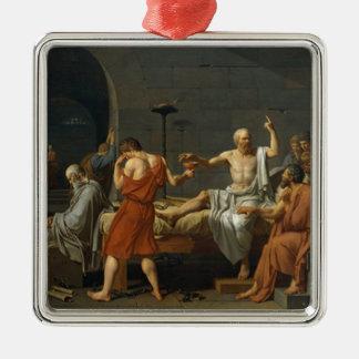 Death of Socrates Silver-Colored Square Ornament