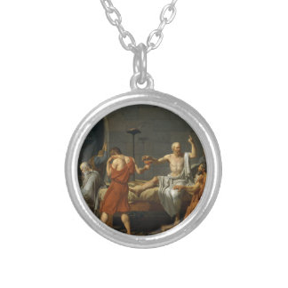 Death of Socrates Silver Plated Necklace