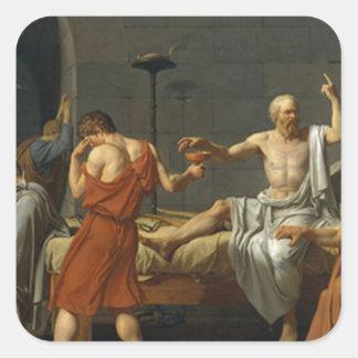 Death of Socrates Square Sticker