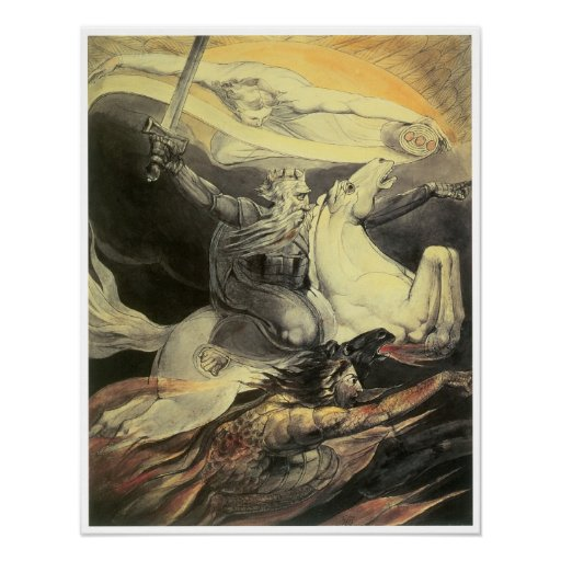 Death on a Pale Horse, William Blake Poster
