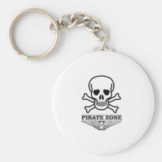 death pirate zone basic round button keychain