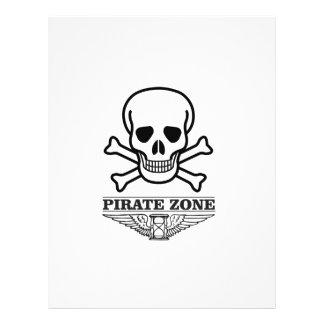 death pirate zone personalized letterhead