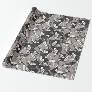 death plays on wrapping paper