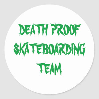 DEATH PROOF SKATEBOARDING TEAM ROUND STICKER