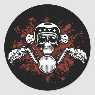 Death Rider - Dice Classic Round Sticker