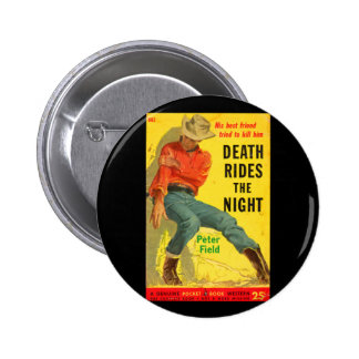 Death Rides the Night western book cover 2 Inch Round Button