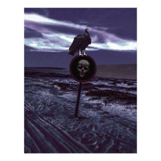 Death Road Dark Scene Personalized Letterhead