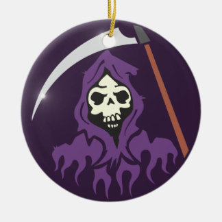 Death scythe man grim more reaper ceramic ornament