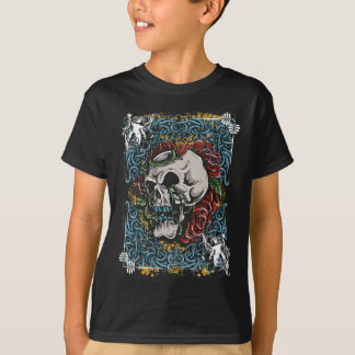 Death Skull Grave RIP Skeleton T-Shirt