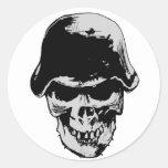 Death skull stalhelm