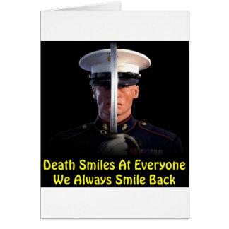 Death Smiles At Everyone We Always Smile Back Greeting Card