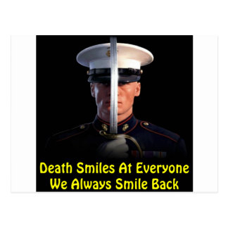 Death Smiles At Everyone We Always Smile Back Postcard