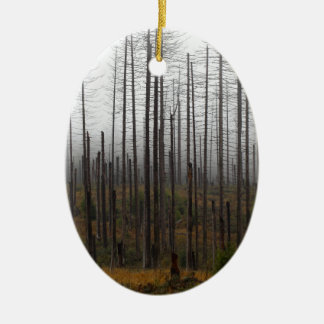 Death spruce trees ceramic ornament