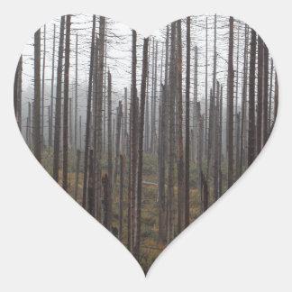 Death spruce trees heart sticker