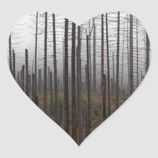 Death spruce trees heart sticker