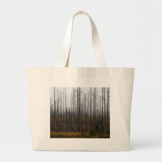 Death spruce trees large tote bag