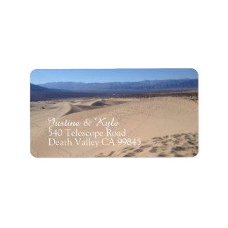 Death Valley Address label