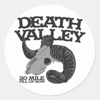 DEATH VALLEY CLASSIC ROUND STICKER