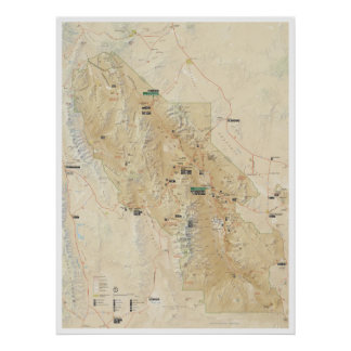 Death Valley map poster