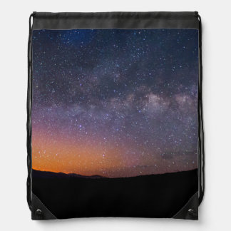Death Valley milky way Sunset Drawstring Bag