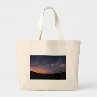 Death Valley milky way Sunset Large Tote Bag