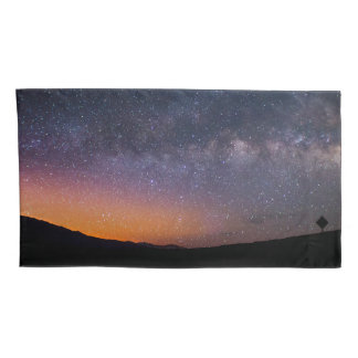 Death Valley milky way Sunset Pillowcase